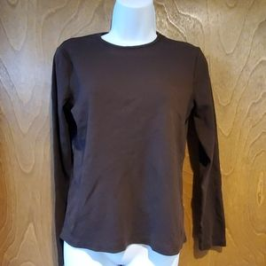 Ralph Lauren long sleeve brown cotton shirt